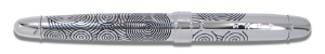 "Acme® ""Circles Etched"" Roller Ball Pen, design by Verner Panton"