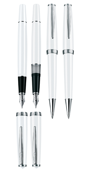 Classic Palladium Converter Fountain Pens by Cleo Skribent®...steel nibs
