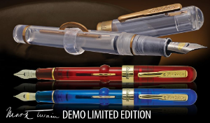 Mark Twain Crescent Fill Demonstrator Limited Edition Piston Fill Fountain Pens by Conklin®