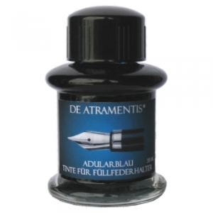 Adular Blue Premium Fountain Pen Bottle Ink by De Atramentis®