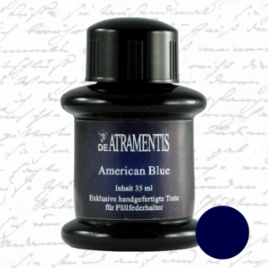 American Blue Premium Fountain Pen Bottled Ink by De Atramentis®