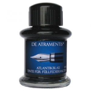 Atlantic Blue Premium Fountain Pen Bottled Ink by De Atramentis®