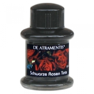 Black Rose/Wild Black Rose Premium Flower Scented Bottled Ink by De Atramentis®...ink color graphite black