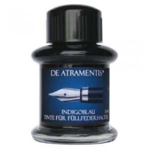 Indigo Blue Premium Bottled Ink by De Atramentis®