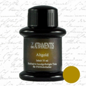 Old Gold Fountain Pen Bottle Ink by De Atramentis®