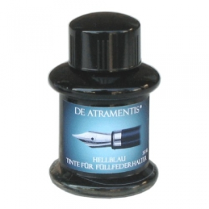 Pale Blue Premium Fountain Bottled Ink by De Atramentis®
