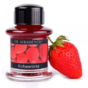 Strawberry Premium Fruit Scented Bottled Ink by De Atramentis®