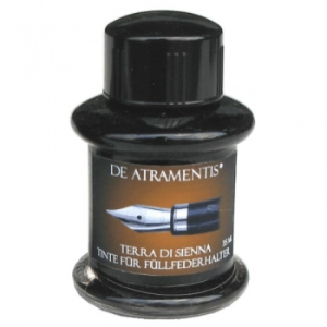 Terra di Siena Premium Fountain Bottled Ink by De Atramentis®