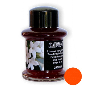 Jasmine Flower Scented Premium Bottled Ink by De Atramentis®...red/orange ink color