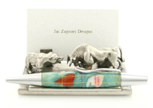 The Street: Bull, Bear Pen and Card Holder by Jac Zagoory Designs