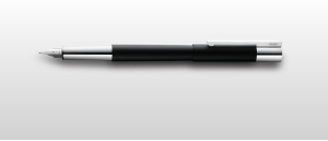 Scala Fountain Pen Black/Silver Series by Lamy®
