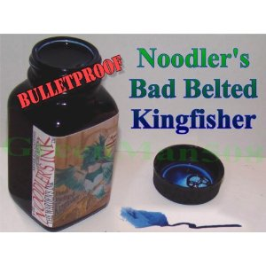 Bad Belted Kingfisher [Blue-waterproof] 3 oz Bottled Ink by Noodler's Ink®