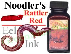 Eel Rattler Red 3 oz Fountain Pen Bottled Ink from Noodler's Ink® [Eel series]