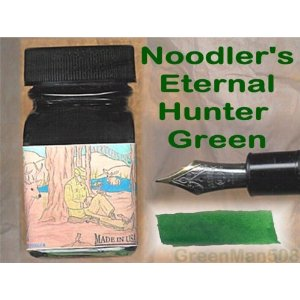 Hunter Green 1 oz bottled ink by Noodler's Ink® [Eternal series]