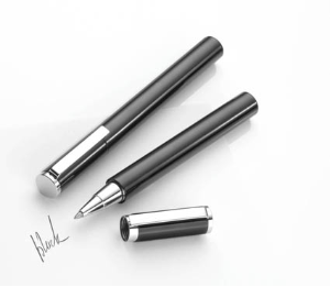 Black is Beautiful Rollerball Pen by Troika® Writing Instruments