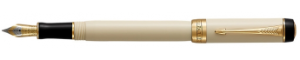 Duofold Classic Ivory and Black Centennial Founttain Pen Series by Parker®