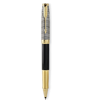 Sonnet Sterling Black and Silver GT Fountain Pens by Parker®
