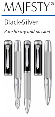 Majesty Sterling Silver-Black Pen Series by Pelikan® [click for prices]