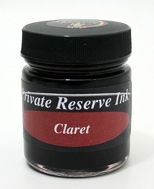 Claret Fountain Pen 50 mL Bottle Ink from Private Reserve Ink®...no longer being offered in this size