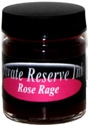 Rose Rage Fountain Pen 50 mL Bottle Ink from Private Reserve Ink®...end of this bottle size