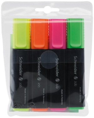 Job Highlighter Four Color Pack by Schneider...new LOW price!