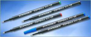 A BEST BUY! Schneider® Topball 850 05 Box of 10 Rollerball Refills...FREE Topball 811 RB while supplies last