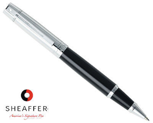 Sheaffer® 300 Glossy Black Chrome Cap RB