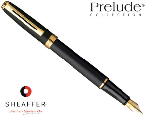 Sheaffer® Prelude Black Matter 22kt GPT Fountain Pens