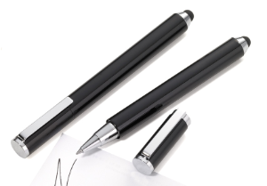 Black Combi Stylus Rollerball Pen from Troika® Writing Instruments