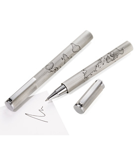 World In Your Hand Rollerball Pen from Troika® Writing Instruments