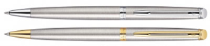 Hemisphere Stainless Steel Ballpoint Pen Collection by Waterman®