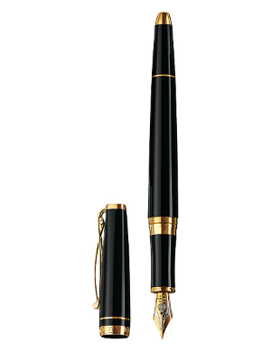 Skribent Gold Black Fountain Pens by Cleo Skribent®