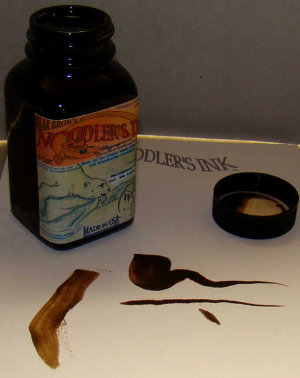 Eel Polar Brown 3 oz bottled ink by Noodler's Ink® [Eel series]
