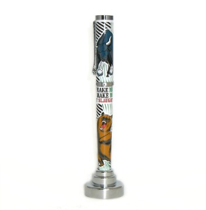 The Street: Bulls and Bears Rollerball Pen by Jac Zagoory Designs....last one