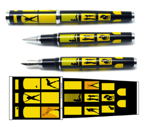 Big City-Racy Real Estate Rollerball Pen by Jac Zagoory Designs