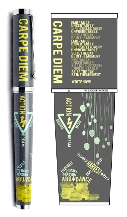 Carpe Diem Rollerball Pen by Jac Zagoory Designs