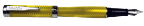 Herringbone Yellow/Black Fountain Pen with medium nib by Conklin...last one!