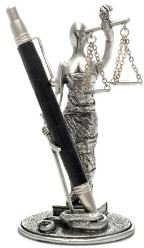 Scales of Justice Pen Holder by Jac Zagoory Designs