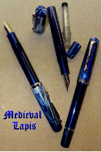 Medieval Lapis Konrad Flex Nib Fountain Pen by Noodler's Ink® [piston fill]