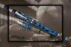 Neponset Marbled Marianas Acrylic Fountain Pen with Music Nib by Noodler's Ink®