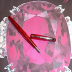 Burmese Ruby Standard Flex Flex Nib Fountain Pen by Noodler's Ink® [piston fill]
