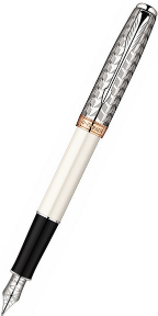 Sonnet Metal & Pearl CT Fountain Pens with 18kt gold nibs by Parker®