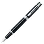 Sheaffer® 300 Glossy Black Chrome Plate Trim Fountain Pens