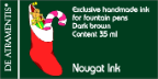 Nougat/Dark Brown Premium Bottled Ink [Christmas Series] by De Atramentis®