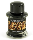 Cinnamon Scented/Graphite Black Premium Bottled Ink by De Atramentis®