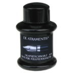 Graphite Black Premium Fountain Pen Bottled Ink by De Atramentis®