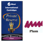 "Private Reserve Ink®  Maxi or ""Long"" Fountain Pen Ink Cartridges....6 per box"