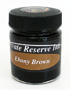 Ebony Brown Fountain Pen 50 mL Bottle Ink from Private Reserve Ink®....end of the line for the 50 mL bottle size