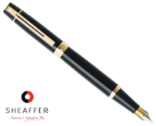 Sheaffer® 300 Glossy Black Fountain Pen/Gold Trim