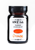 Orange Handmade Fountain Pen Ink from KWZ Ink